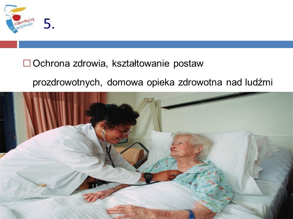 Ochrona zdrowia, kształtowanie postaw prozdrowotnych, domowa opieka zdrowotna nad ludźmi starymi 5.