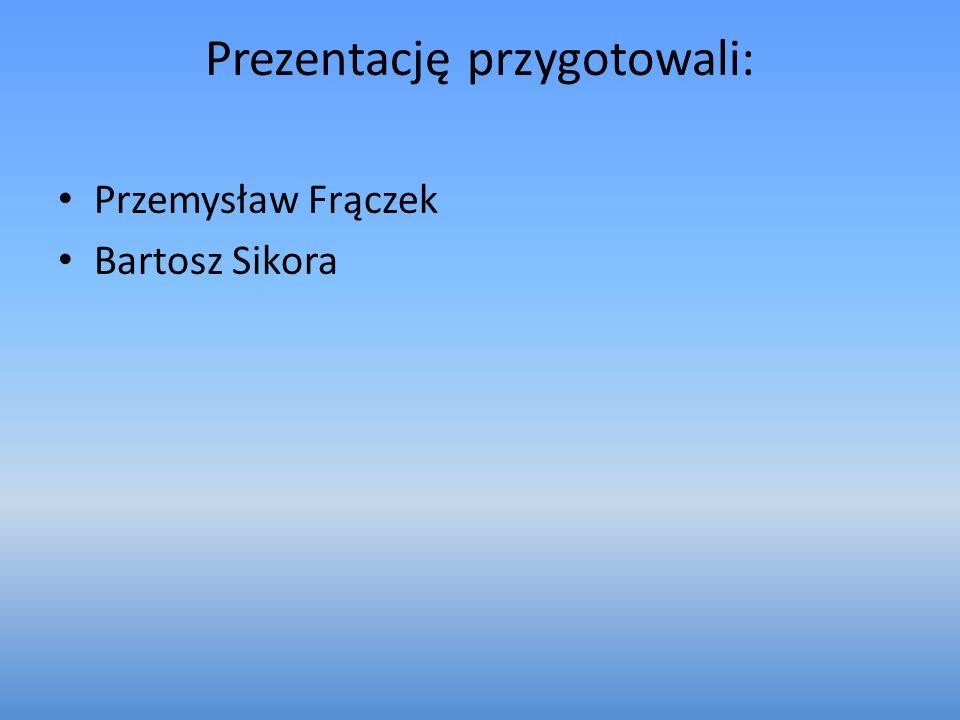 Prezentację przygotowali: Przemysław Frączek Bartosz Sikora
