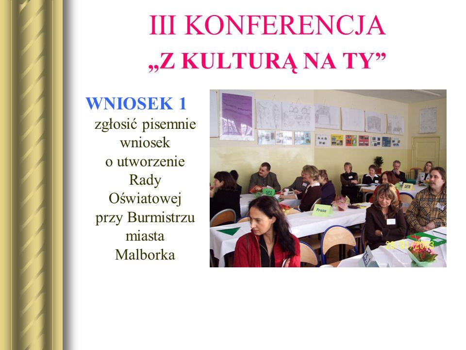 WNIOSEK 1 zgłosić pisemnie wniosek o utworzenie Rady Oświatowej przy Burmistrzu miasta Malborka