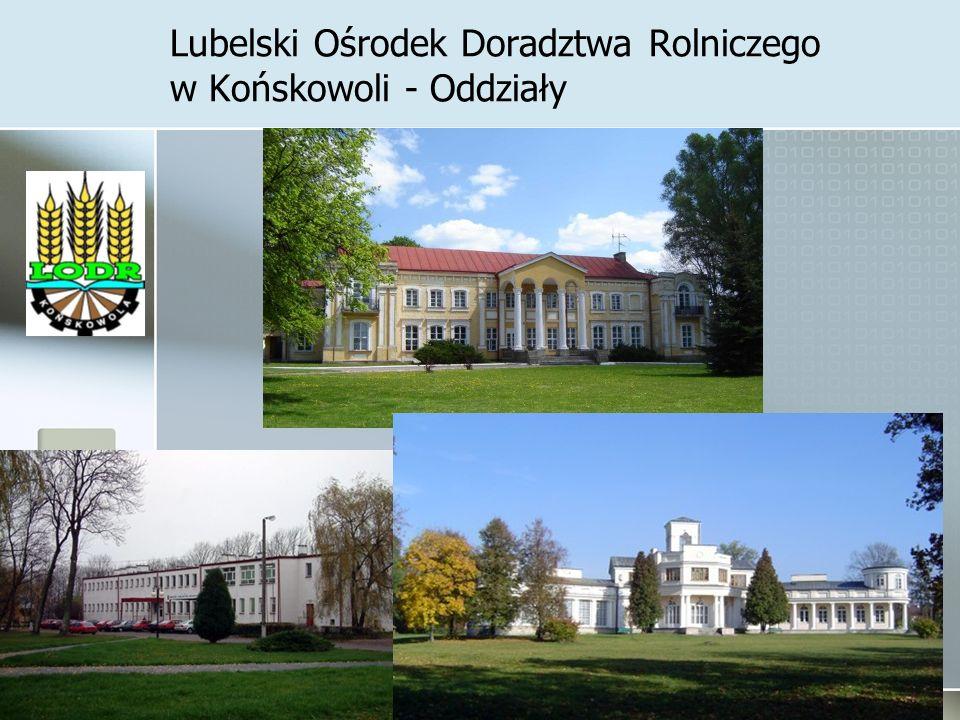 Lubelski Ośrodek Doradztwa Rolniczego w Końskowoli - Oddziały