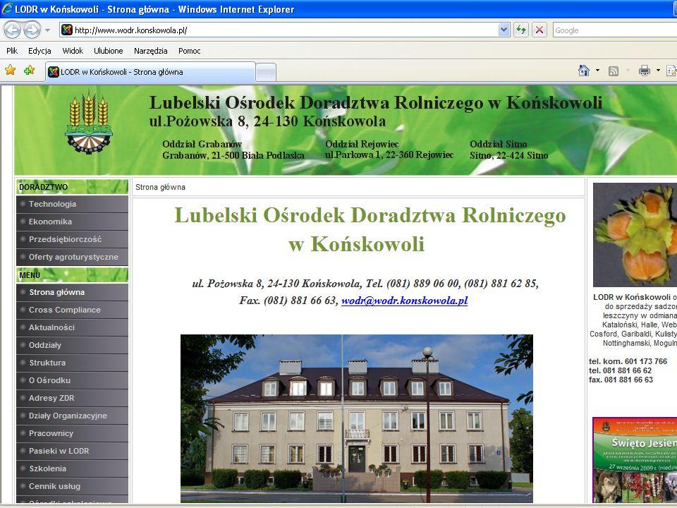 Lubelski Ośrodek Doradztwa Rolniczego w Końskowoli OŚRODEK SZKOLENIOWY Z BAZĄ NOCLEGOWĄ www.wodr.konskowola.pl