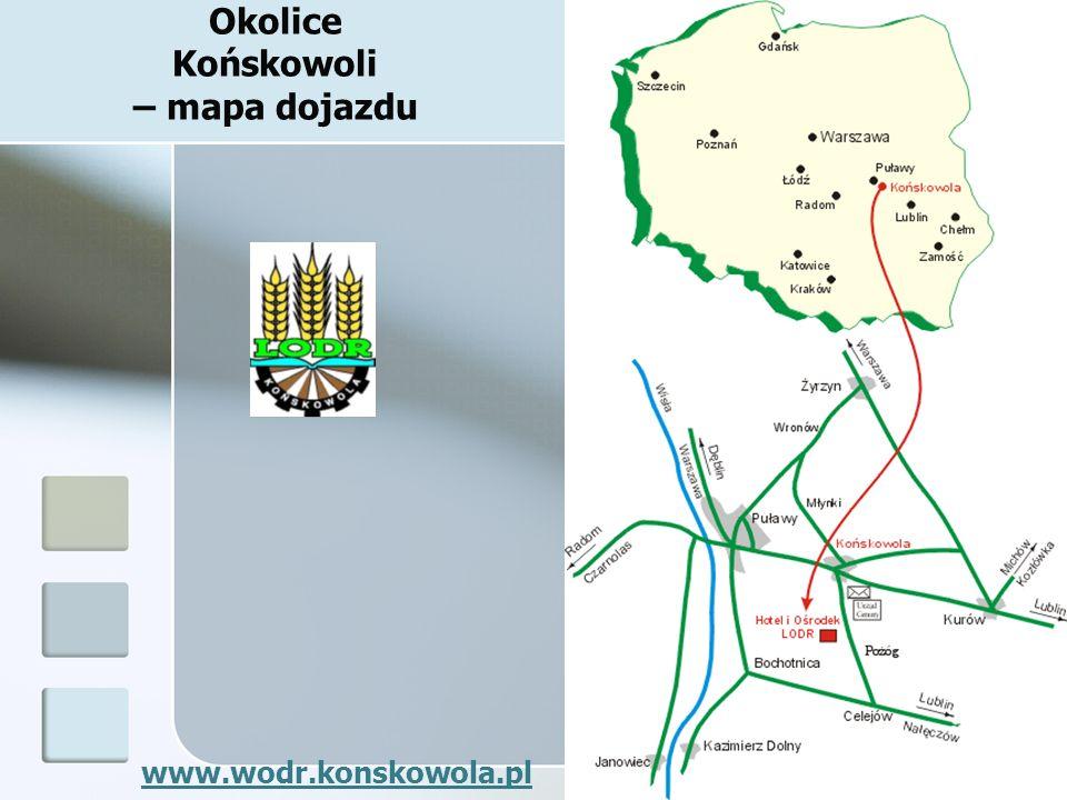 Okolice Końskowoli – mapa dojazdu www.wodr.konskowola.pl