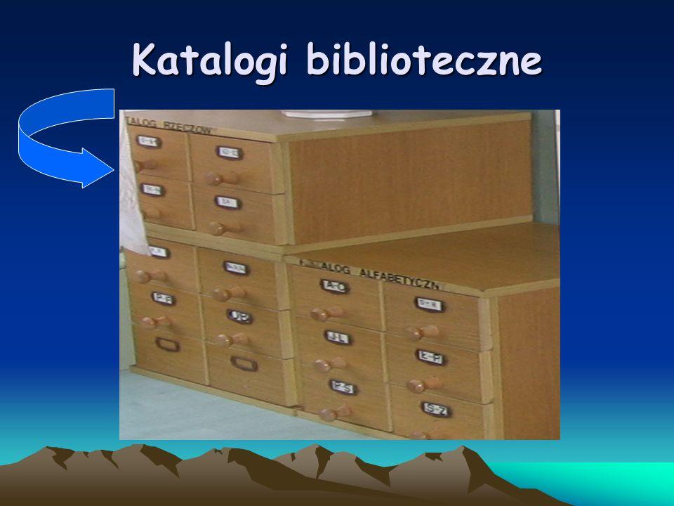 Katalogowanie to opracowanie karty do katalogu, wg określonych przepisów, na której podaje się elementy opisowe i porządkowe.