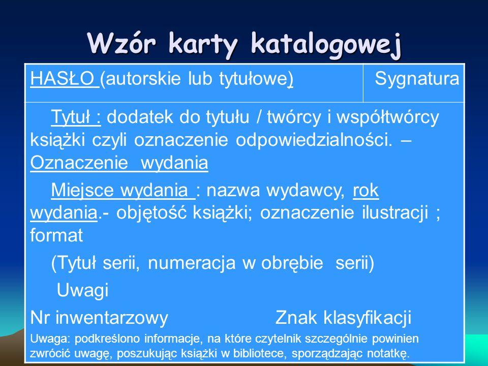 Tak powinna wyglądać karta katalogowa Brzechwa JanL IV Akademia pana Kleksa / Jan Brzechwa ; il.