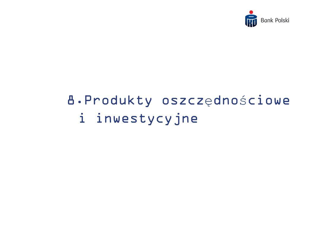 8.Produkty oszczędnościowe i inwestycyjne