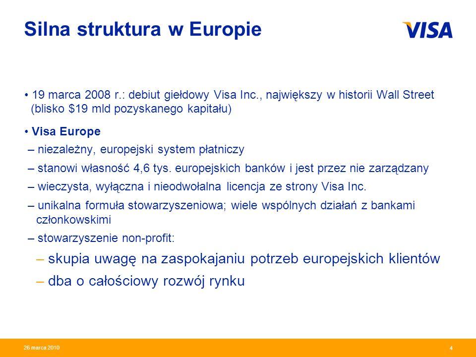Presentation Identifier.5 Information Classification as Needed 5 26 marca 2010 Rozwój systemu kart Visa w Polsce 20,9 miliona I kw.