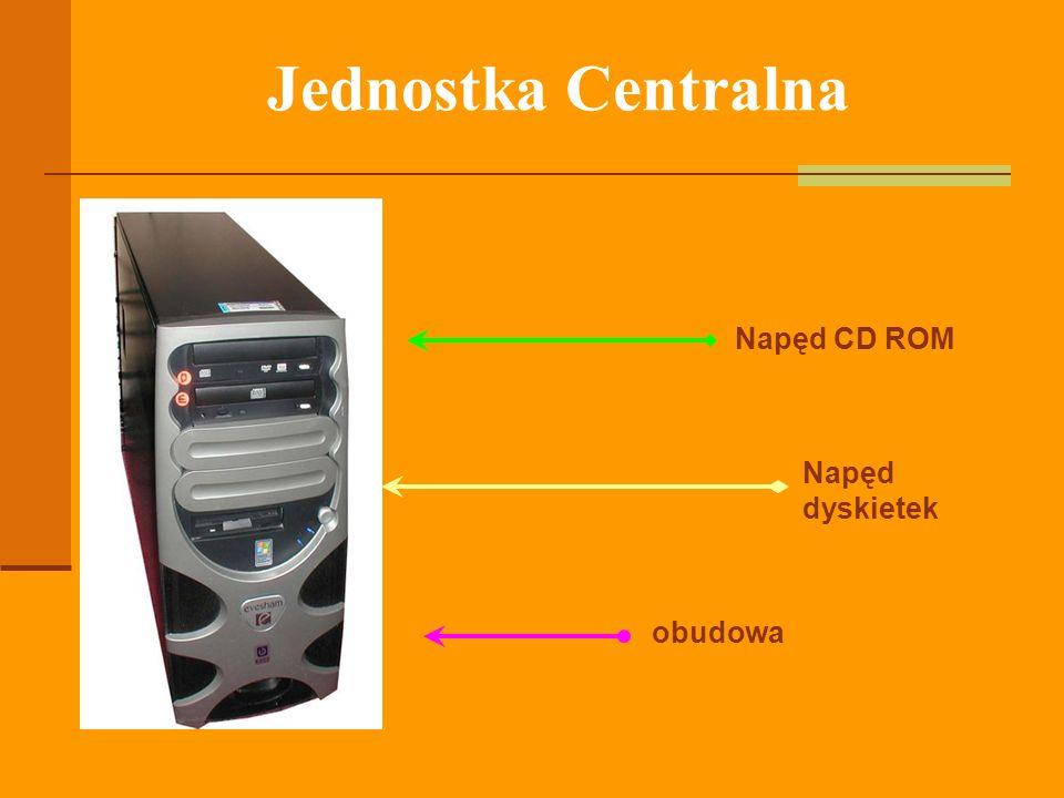obudowa Napęd dyskietek Napęd CD ROM Jednostka Centralna