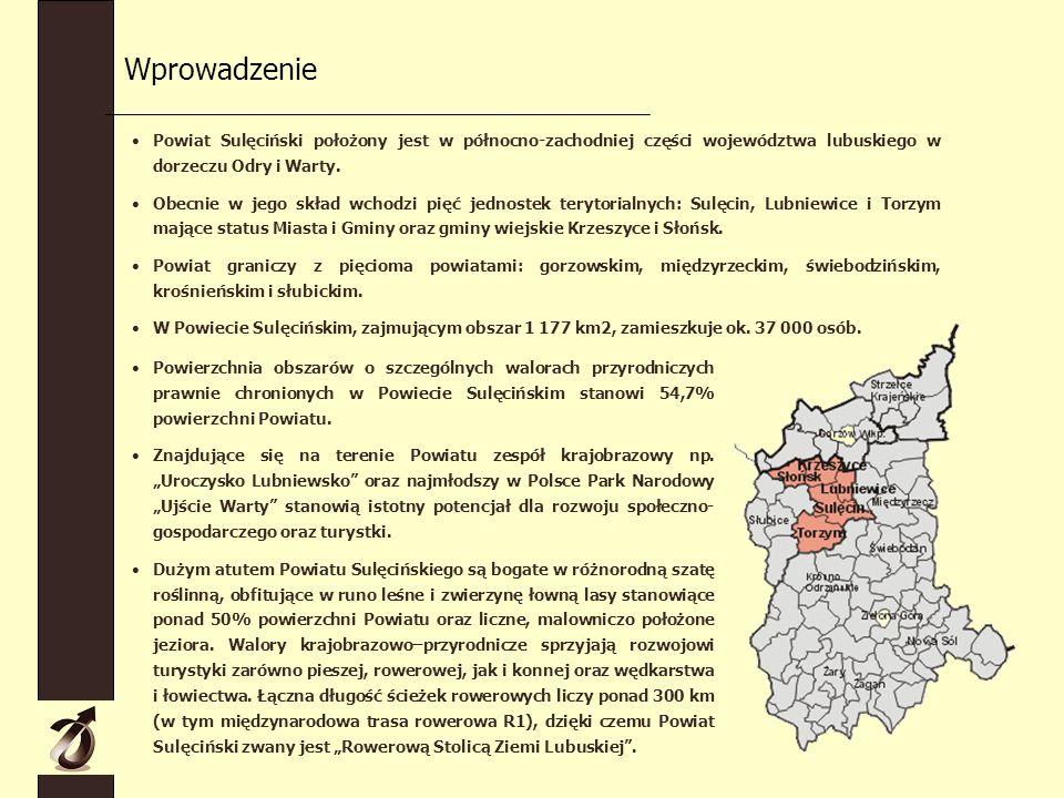 Powiat Sulęciński położony jest w północno-zachodniej części województwa lubuskiego w dorzeczu Odry i Warty.