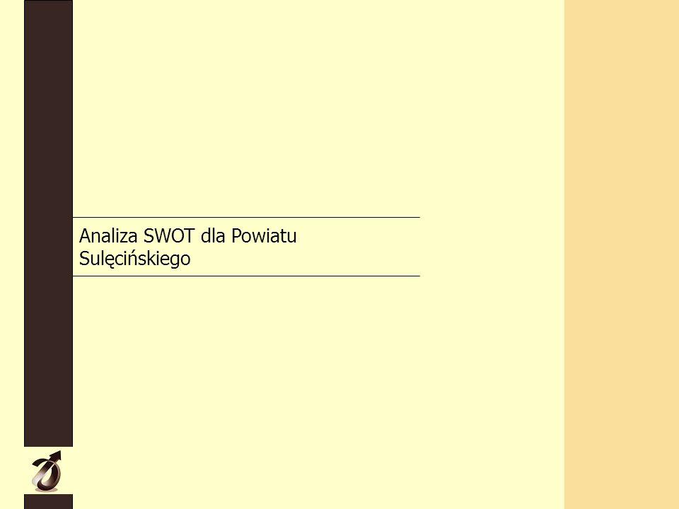 Analiza SWOT dla Powiatu Sulęcińskiego