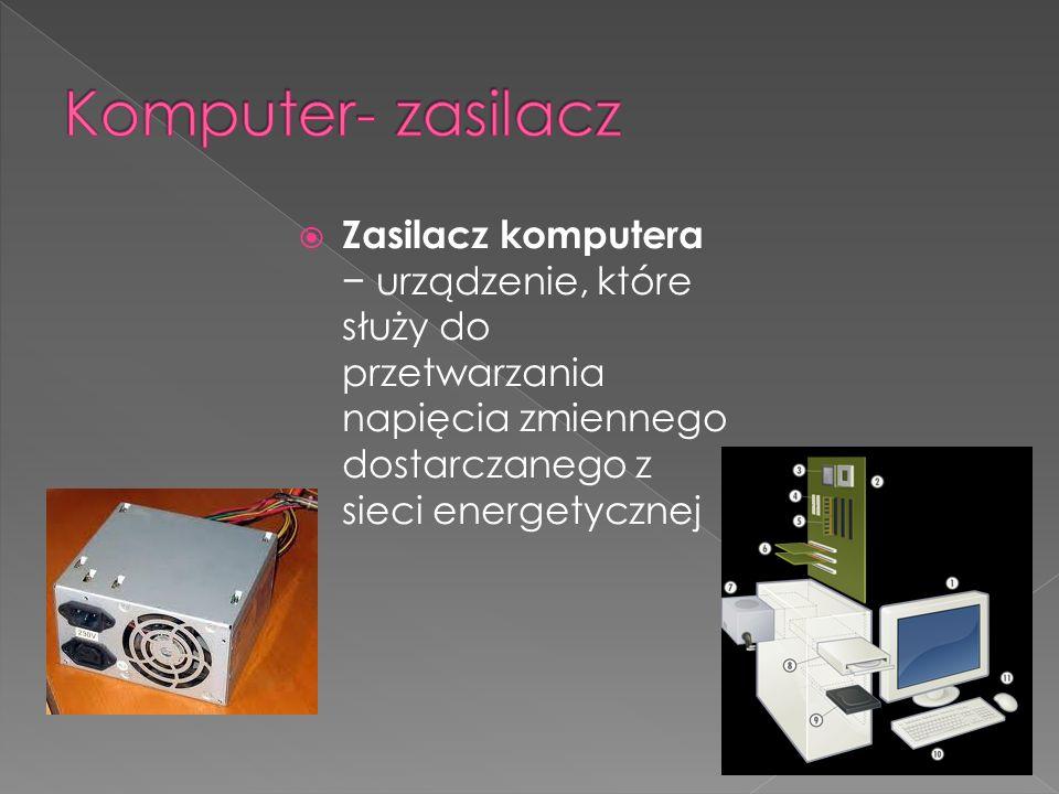Zasilacz komputera urządzenie, które służy do przetwarzania napięcia zmiennego dostarczanego z sieci energetycznej