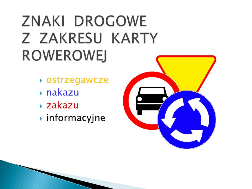 ostrzegawcze nakazu zakazu informacyjne