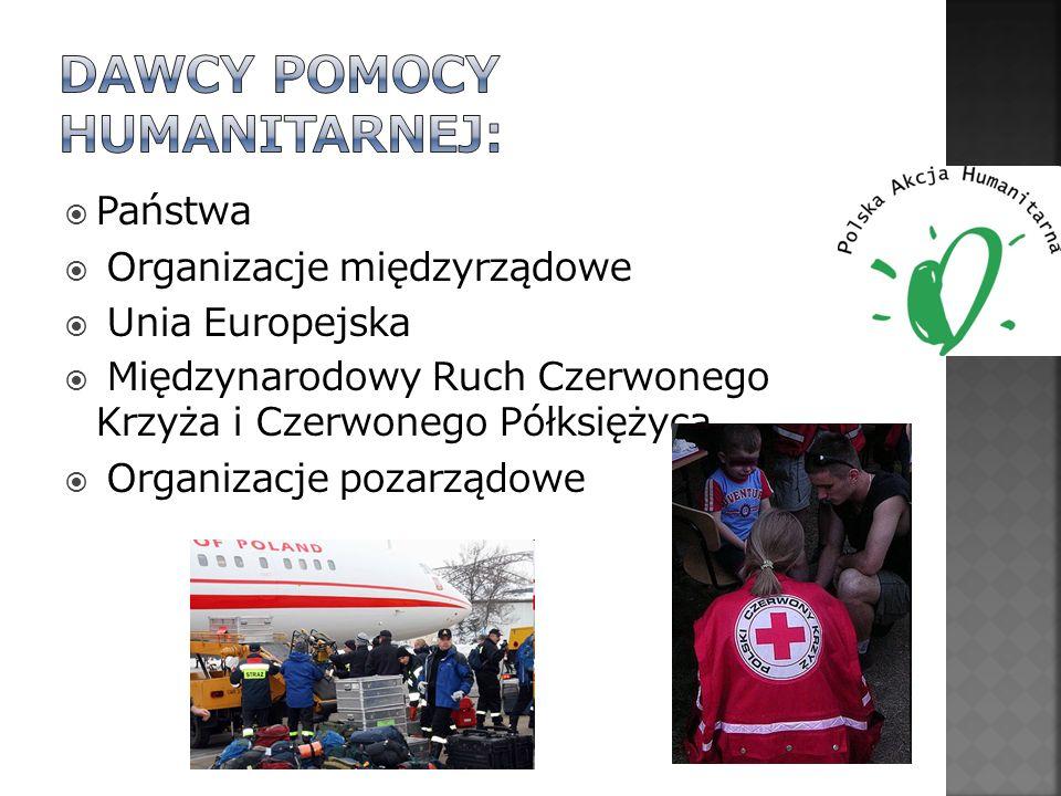 Państwa Organizacje międzyrządowe Unia Europejska Międzynarodowy Ruch Czerwonego Krzyża i Czerwonego Półksiężyca Organizacje pozarządowe