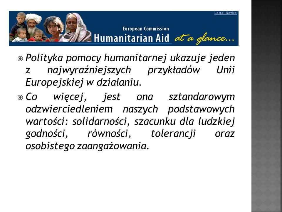 Polityka pomocy humanitarnej ukazuje jeden z najwyraźniejszych przykładów Unii Europejskiej w działaniu. Co więcej, jest ona sztandarowym odzwierciedl