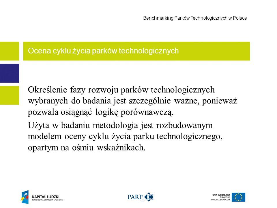 Określenie fazy rozwoju parków technologicznych wybranych do badania jest szczególnie ważne, ponieważ pozwala osiągnąć logikę porównawczą. Użyta w bad
