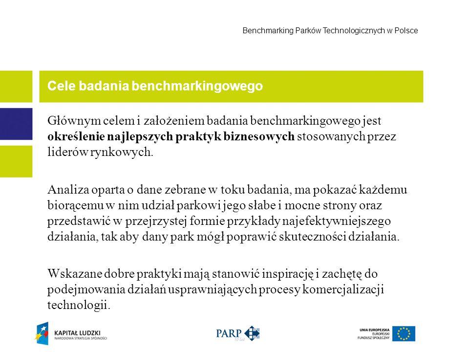 Ocena cyklu życia parków technologicznych Benchmarking Parków Technologicznych w Polsce 1 Struktura organizacyjna parku.