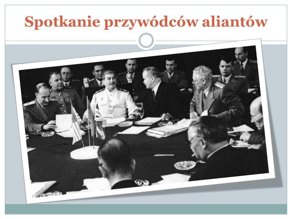 Postanowienia konfederacji Państwa zachodnie oddały pod kontrolę Polski wschodnie i północne ziemie niemieckie ZSSR przyznano rejon Królewca Zdecydowano o przymusowym wysiedleniu ludności niemieckiej z Polski, Czechosłowacji i Węgier, a Niemcy podzielono na strefy okupacyjne Na terenie Korei ustalono linię demarkacyjną Zdecydowano o ewakuacji wojsk radzieckich i brytyjskich z Iranu