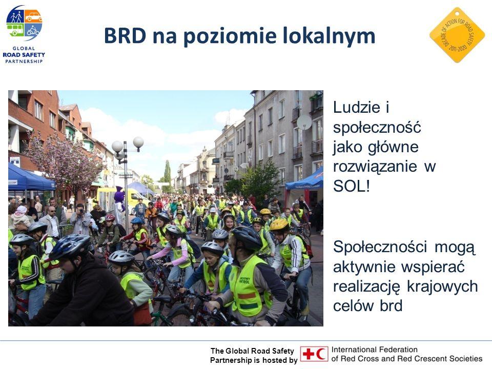 The Global Road Safety Partnership is hosted by BRD na poziomie lokalnym Społeczności mogą aktywnie wspierać realizację krajowych celów brd Ludzie i społeczność jako główne rozwiązanie w SOL!