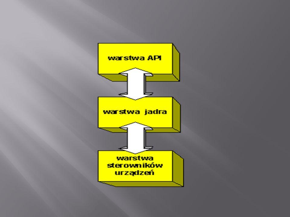 Warstwa ta stanowi zbiór poleceń, które aplikacje użytkownika mogą wydawać systemowi operacyjnemu (na przykład: zamknij plik, odczytaj znak z klawiatury).