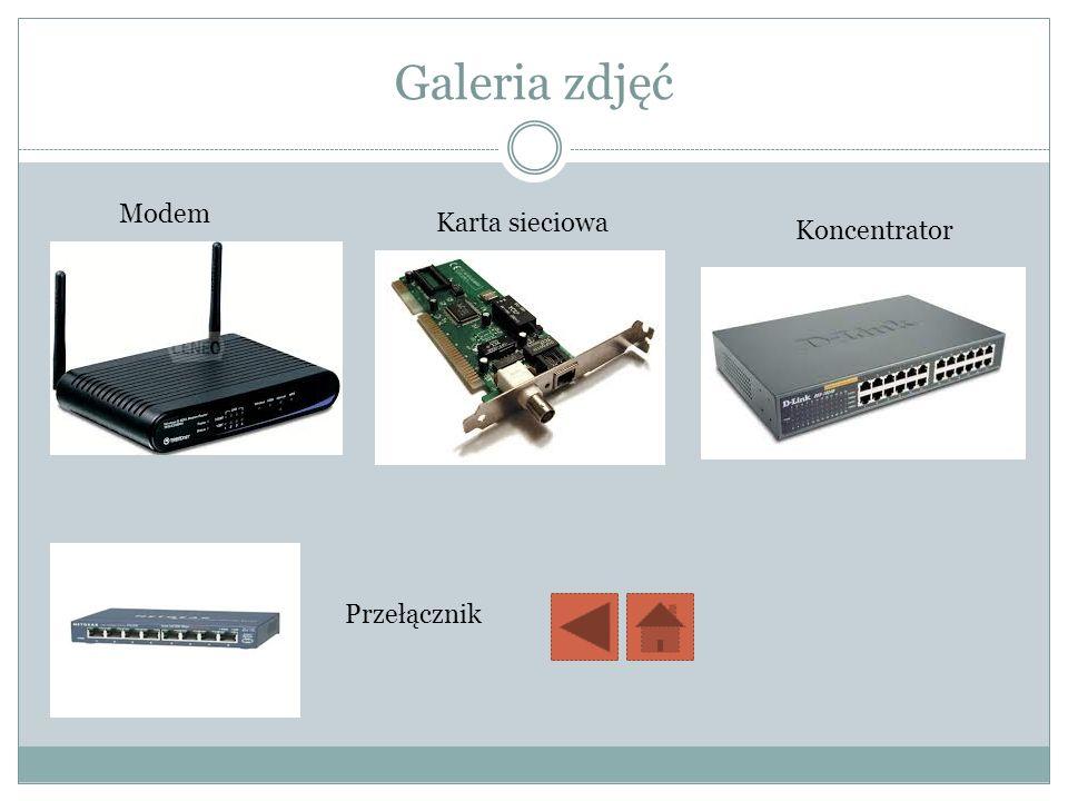 Galeria zdjęć Modem Karta sieciowa Koncentrator Przełącznik