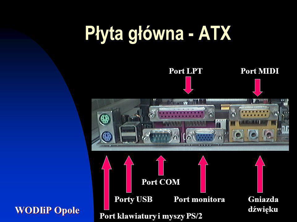 WODIiP Opole Procesor Mikroprocesor zwany również procesorem jest to układ elektroniczny, który wykonuje zadania zlecane komputerowi.