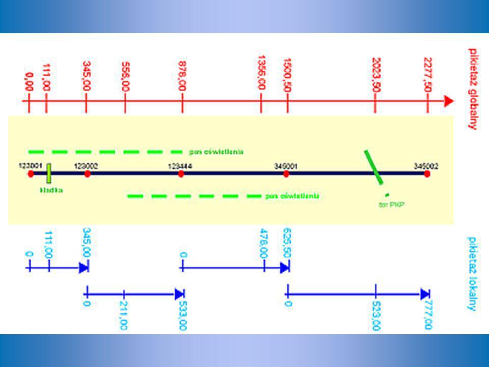 Z tabeli wiemy, że punkt referencyjny, do którego odwołuje się słupek – punkt o nr 6653006, znajduje się w odległości 60,709 km od początku drogi nr 969.