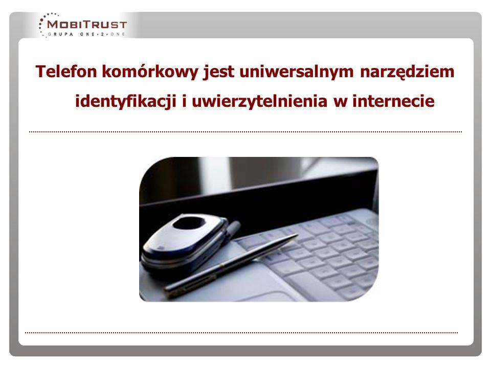 Telefon komórkowy jest uniwersalnym narzędziem identyfikacji i uwierzytelnienia w internecie