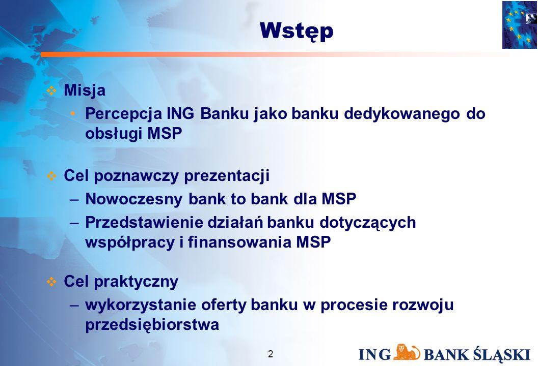 Współczesny bank – partner dla MSP Katowice, 11 lutego 2004