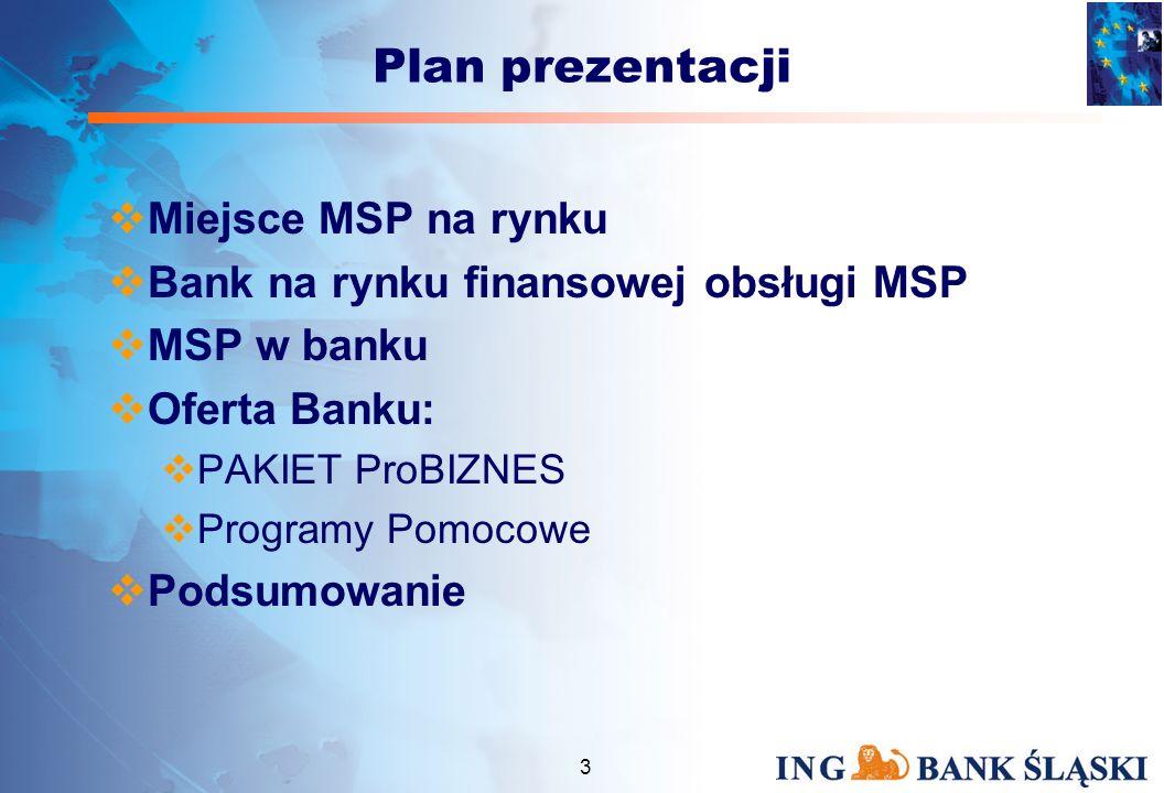2 Misja Percepcja ING Banku jako banku dedykowanego do obsługi MSP Wstęp Cel poznawczy prezentacji –Nowoczesny bank to bank dla MSP –Przedstawienie działań banku dotyczących współpracy i finansowania MSP Cel praktyczny –wykorzystanie oferty banku w procesie rozwoju przedsiębiorstwa