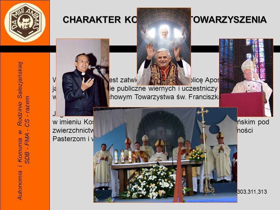 W Kościele SWS jest zatwierdzone przez Stolicę Apostolską jako stowarzyszenie publiczne wiernych i uczestniczy w dziedzictwie duchowym Towarzystwa św.