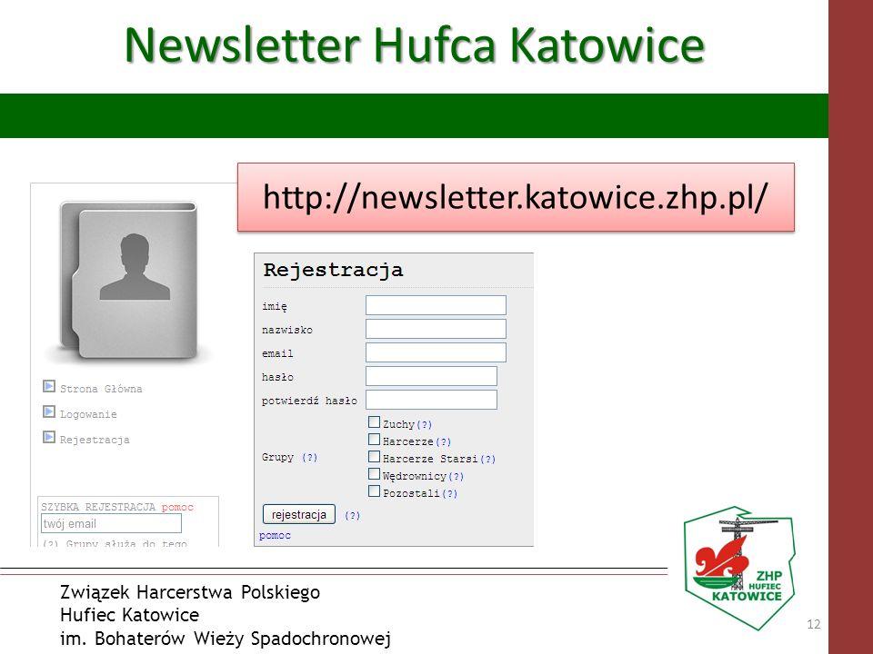 Związek Harcerstwa Polskiego Hufiec Katowice im. Bohaterów Wieży Spadochronowej Newsletter Hufca Katowice 12 http://newsletter.katowice.zhp.pl/