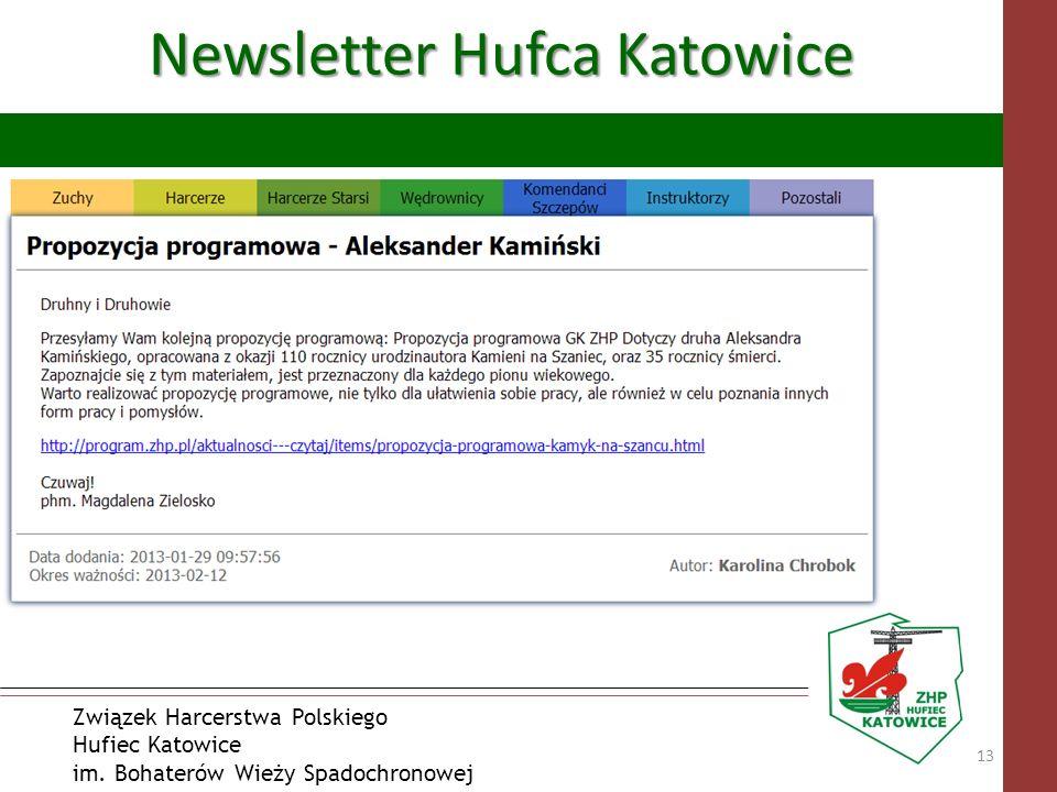 Związek Harcerstwa Polskiego Hufiec Katowice im. Bohaterów Wieży Spadochronowej Newsletter Hufca Katowice 13