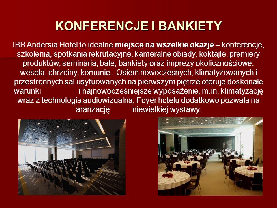 KONFERENCJE I BANKIETY IBB Andersia Hotel to idealne miejsce na wszelkie okazje – konferencje, szkolenia, spotkania rekrutacyjne, kameralne obiady, ko