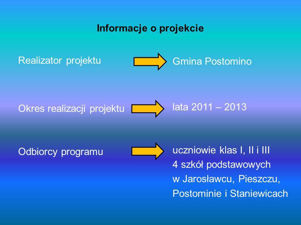 W Gminie Postomino projektem objęto wszystkie publiczne szkoły podstawowe, tj.: w Jarosławcu, Pieszczu, Postominie i Staniewicach.