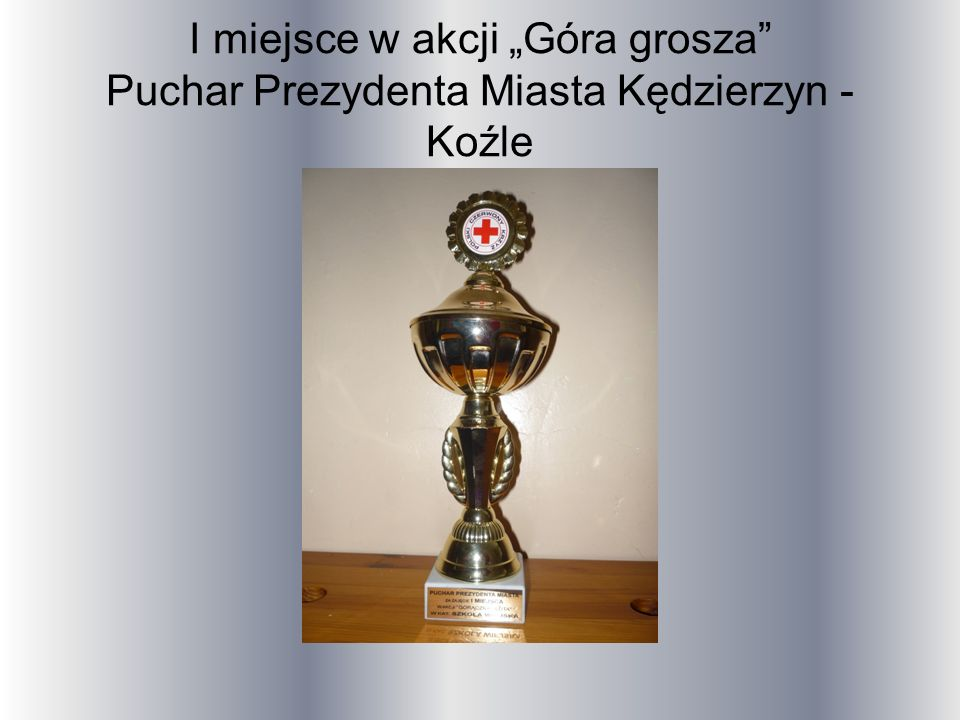 I miejsce w akcji Góra grosza Puchar Prezydenta Miasta Kędzierzyn - Koźle