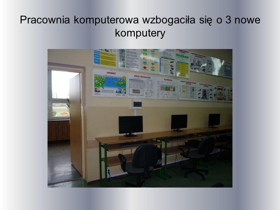 Pracownia komputerowa wzbogaciła się o 3 nowe komputery