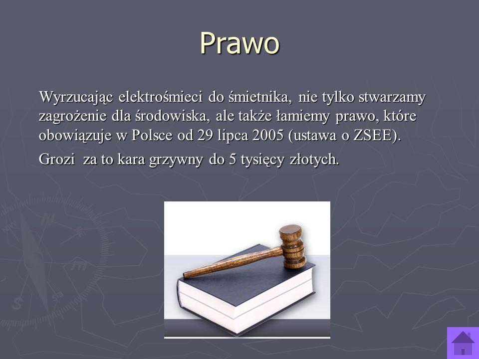 Prawo Wyrzucając elektrośmieci do śmietnika, nie tylko stwarzamy zagrożenie dla środowiska, ale także łamiemy prawo, które obowiązuje w Polsce od 29 l