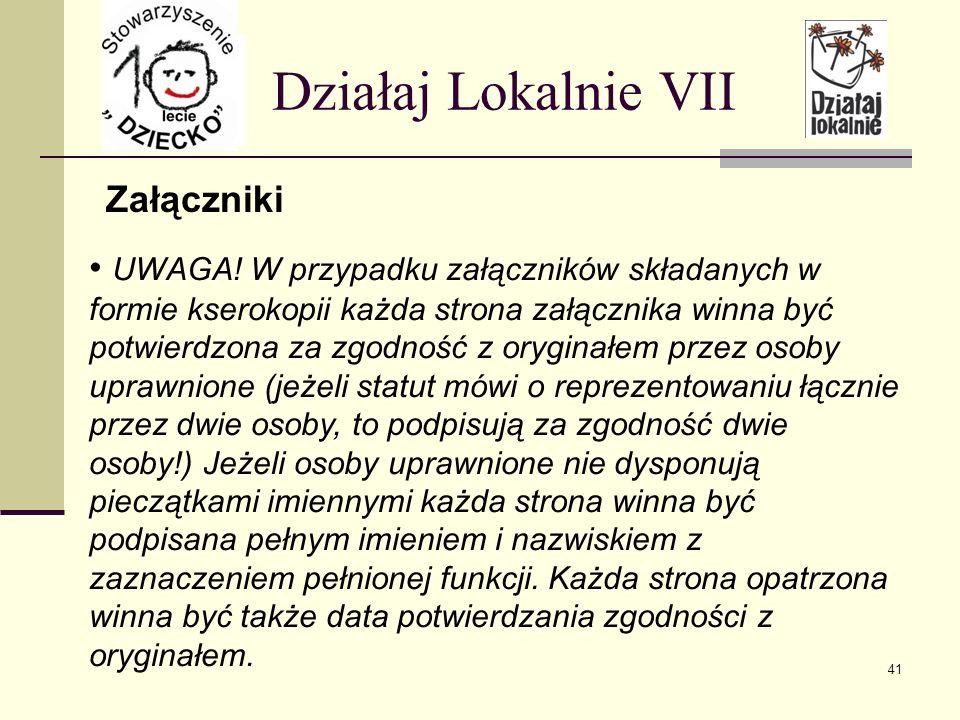 Załączniki Działaj Lokalnie VII UWAGA.