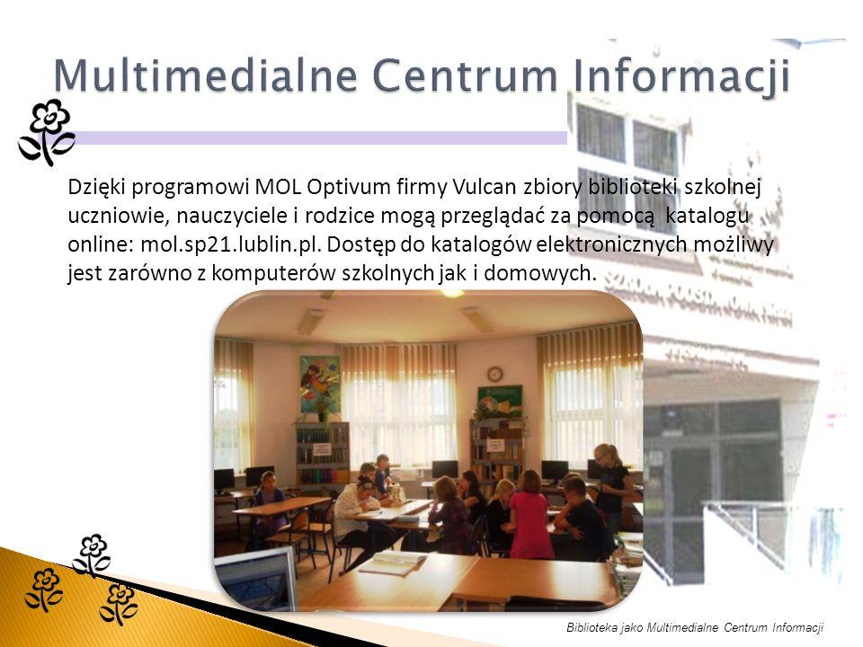 Dzięki programowi MOL Optivum firmy Vulcan zbiory biblioteki szkolnej uczniowie, nauczyciele i rodzice mogą przeglądać za pomocą katalogu online: mol.sp21.lublin.pl.