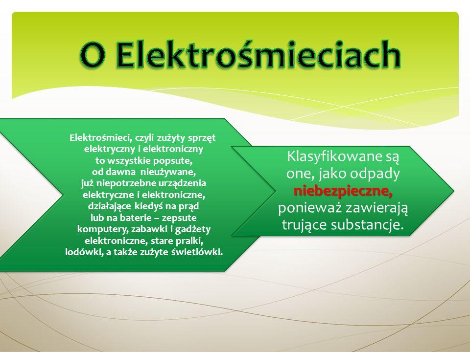 Elektrośmieci, czyli zużyty sprzęt elektryczny i elektroniczny to wszystkie popsute, od dawna nieużywane, już niepotrzebne urządzenia elektryczne i el