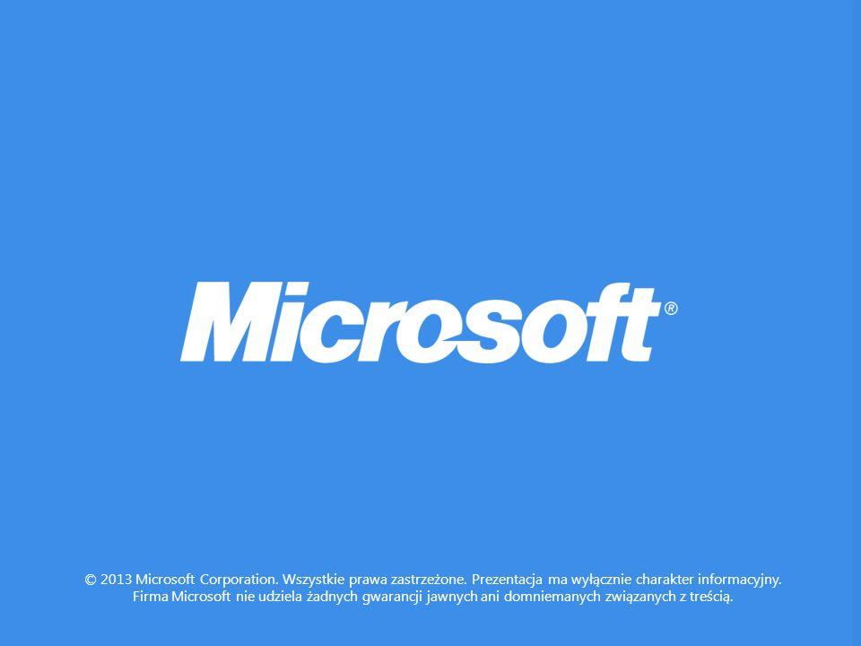 © 2013 Microsoft Corporation.Wszystkie prawa zastrzeżone.