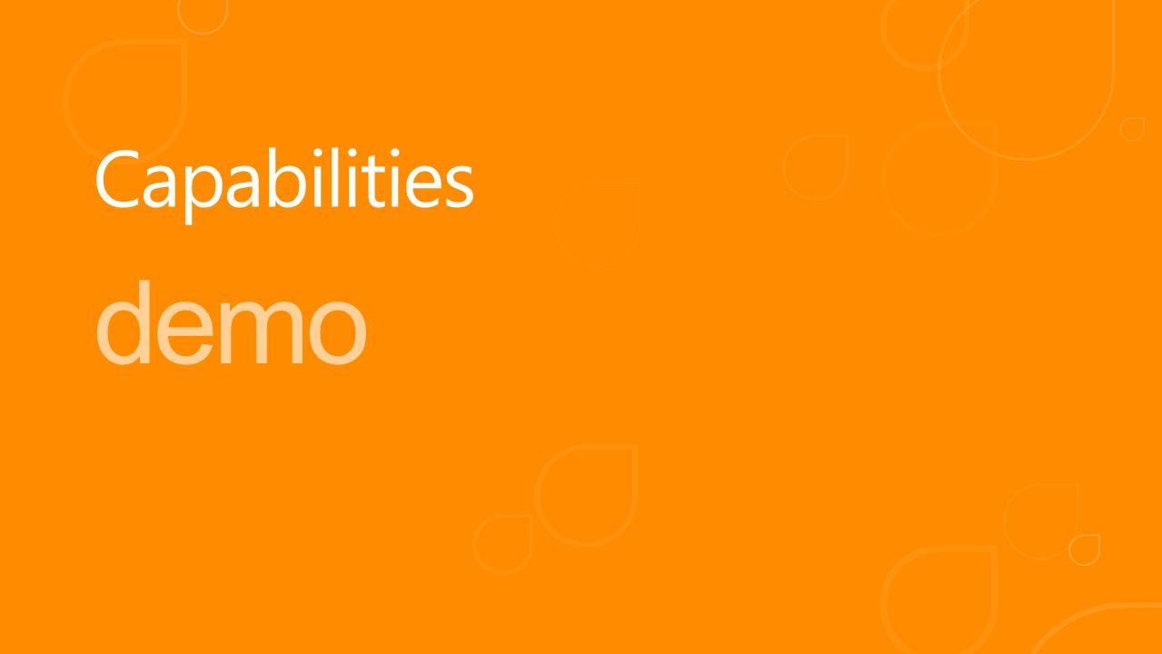 demo Capabilities