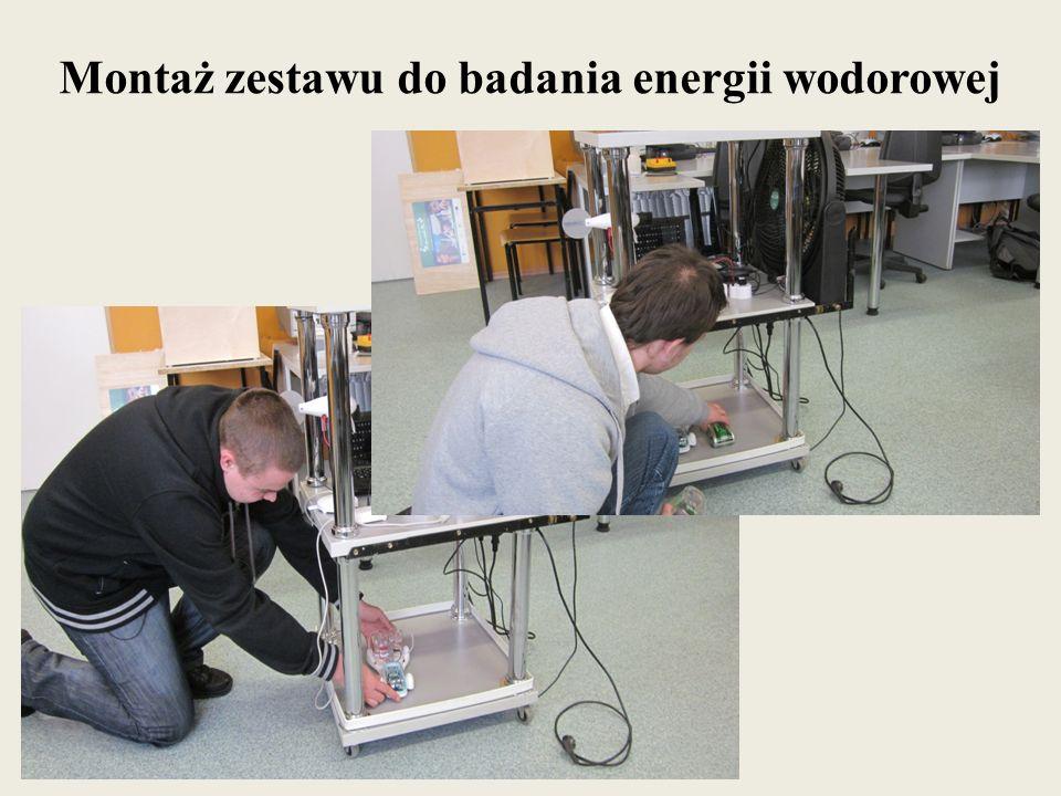 Montaż zestawu do badania energii wodorowej