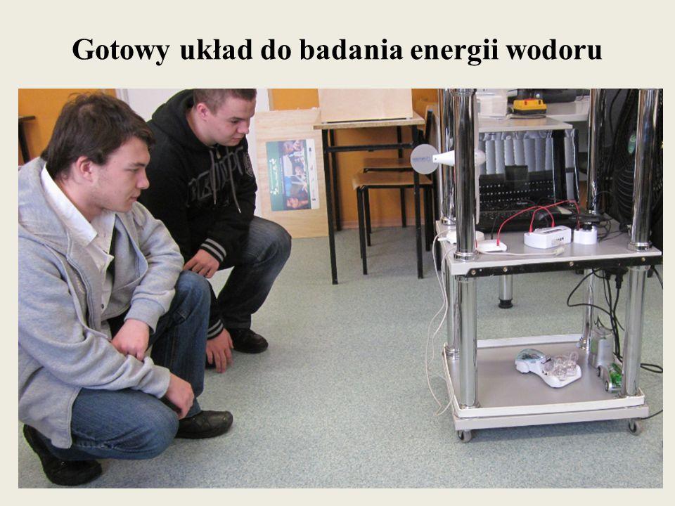 Gotowy układ do badania energii wodoru