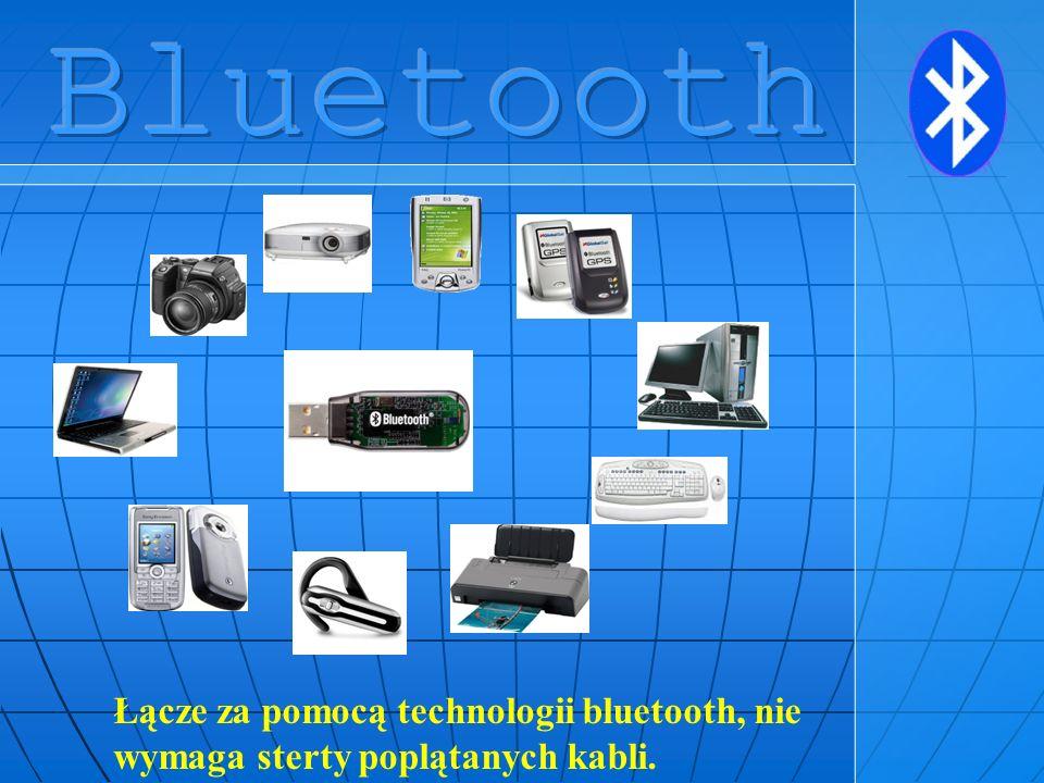 Łącze za pomocą technologii bluetooth, nie wymaga sterty poplątanych kabli.