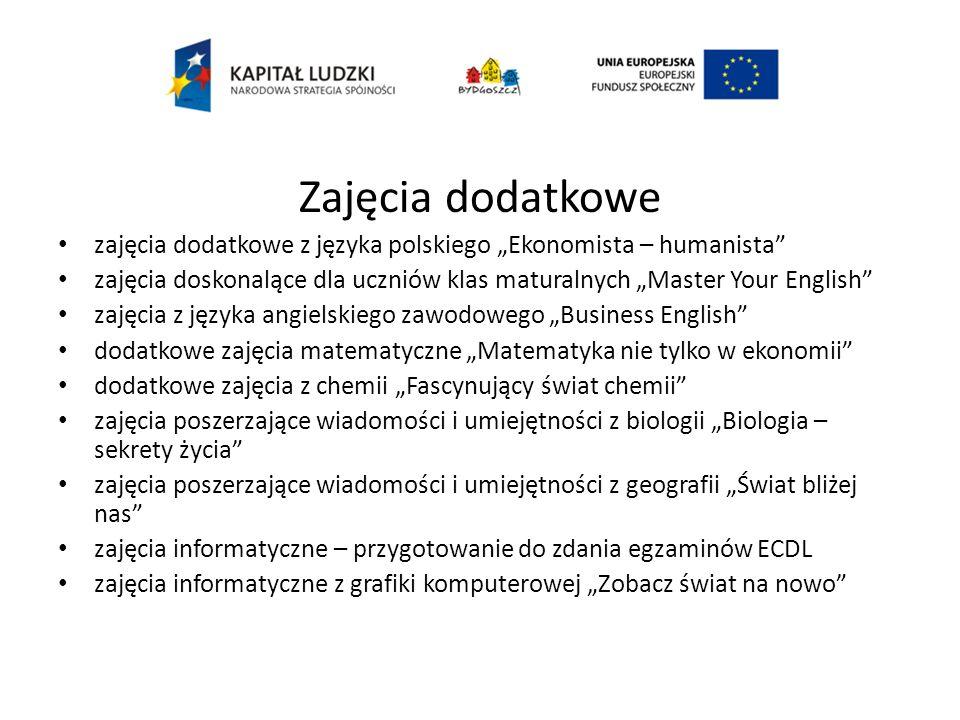 Zajęcia informatyczne – przygotowanie do zdania egzaminów ECDL (Europejski Certyfikat Umiejętności Komputerowych) Liczba uczestników zajęć – 23 uczniów Egzaminy przeprowadzone w 7 modułach 1.