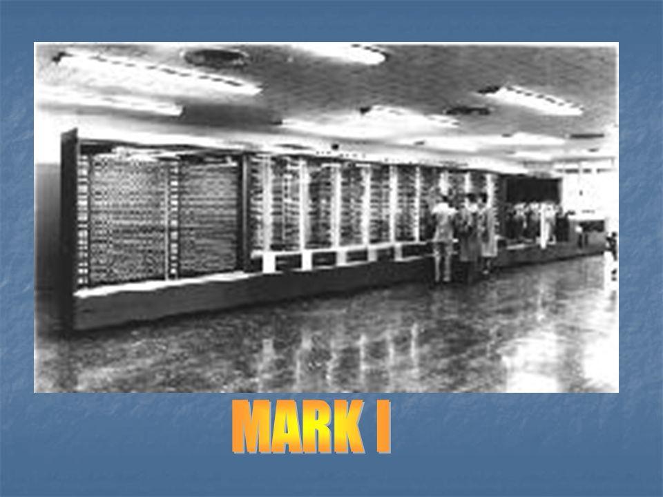 Lata 40-te KOMPUTERY 0 i 1 generacji MARK I –1937(ukończono w 1944) w firmie IBM – pod kierownictwem Howarda Aikena zbudowano pierwszą automatyczną ma