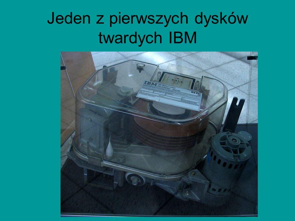Jeden z pierwszych dysków twardych IBM