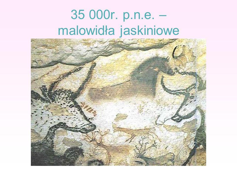 35 000r. p.n.e. – malowidła jaskiniowe