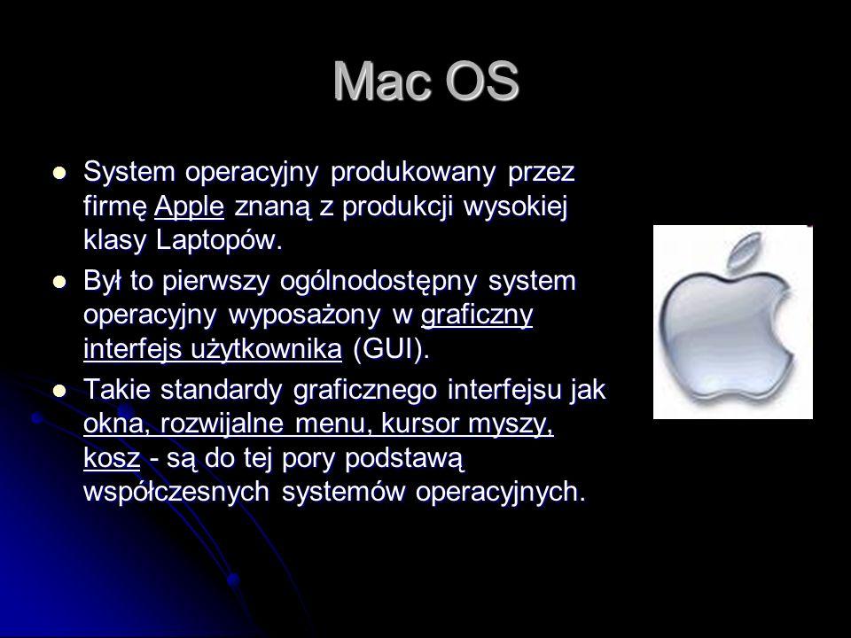 Unix System operacyjny powstały w 1969 r. w Bell Labs następnie przez lata rozwijany prze wiele różnych firm. System operacyjny powstały w 1969 r. w B