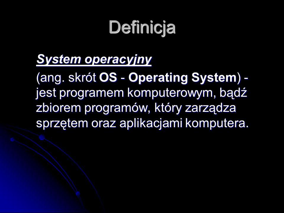 Definicja System operacyjny (ang.